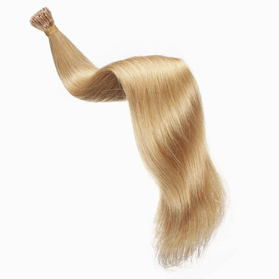 100PCS Honey Blonde Straight Stick I-Tip Human Hair Pieces Extension 2021