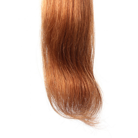 100PCS Light Auburn Straight Stick I-Tip Human Hair Pieces Extension 2021