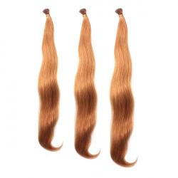 100PCS Light Auburn Straight Stick I-Tip Human Hair Pieces Extension