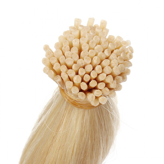 100PCS Light Blonde Straight Stick I-Tip Human Hair Pieces Extension 2021