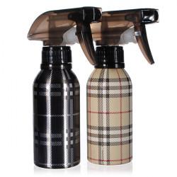 120ML Plaid Aluminum Water Metal Spray Bottle
