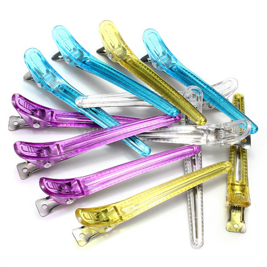 12Pcs Colorful Salon Hairdressing Clips Clamps Hair Grip 2021