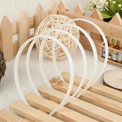 12Pcs White Plain Fashion Ladies Hair Band Headband Hair Accessories