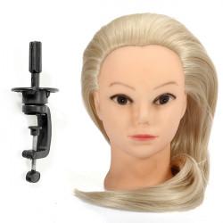 """18"""" Blonde Fiber Hair Hairdressing Training Head Model"""