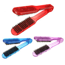 1Pcs V Shape Straightening Hair Comb Brush Boar Bristle