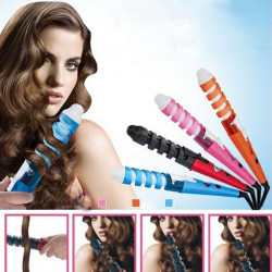 220 Voltage Spiral Curl Ceramic Curling Iron Dual Hair Curler