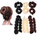 2 Pcs Hot Buns Fashion Elegant Hair Magic Style Bun Maker 3 Colors Hair Care & Salon