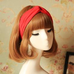6 Colors Elastic Women Turban Twist Headband Sports Hair Band