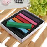 6pcs Non-toxic Temporary Pastel Square Hair Chalk High Quality Hair Care & Salon