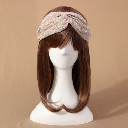 All-match Floral Pattern Cross Chiffon Head Band