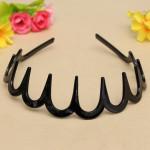 Black Plastic Sharks Tooth Hair Band Headband Toothed Hairband Hair Care & Salon