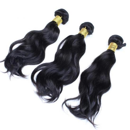 Brazilian Water Wave Virgin Real Human Hair Piece Extension 2021