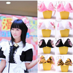 Cosplay Party Cat Ear Hair Clips Accessories Headbands