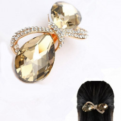 Crystal Rhinestone Bowknot Barrette Clip Headdress