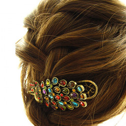 Fashion Beautiful Peacock Crystal Hairpin
