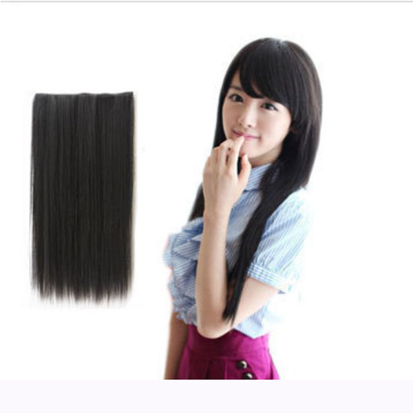 Fashion Women Long Straight Curl Synthetic Clip On Hair Extensions Hair Care & Salon