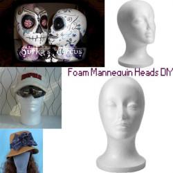 Foam Mannequin Head Model Wig Hat Stand Display