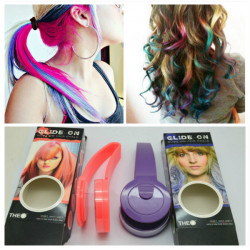 GLIDE ON Temporary Hair Coloring Chalk Clip