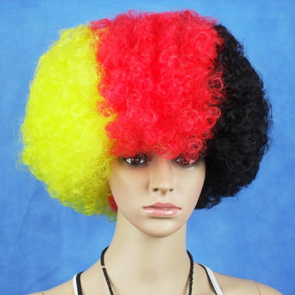 Germany National Flag World Cup Fans Synthetic Cosplay Party Wigs Hair Care & Salon