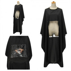 Hair Cutting Cape Gown Hairdresser Transparent Viewing Window