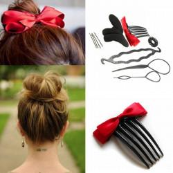 Hair Styling Tool Hairpin Ponytail Bun Maker Twist Set