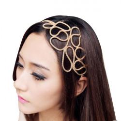 Hollow Braided Headband Golden Hair Band