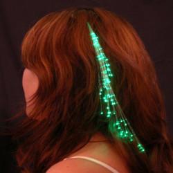 Hot LED Fiber Optic Light-up Rainbow Hair Barrettes