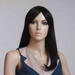 Natural Black High Temperature Resistant Straight Wig