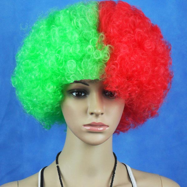 Portugal National Flag World Cup Fans Synthetic Cosplay Party Wigs Hair Care & Salon