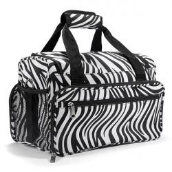 Salon Hair Tools Hairdressing Zebra Carry Case Diaper Duffle Bag