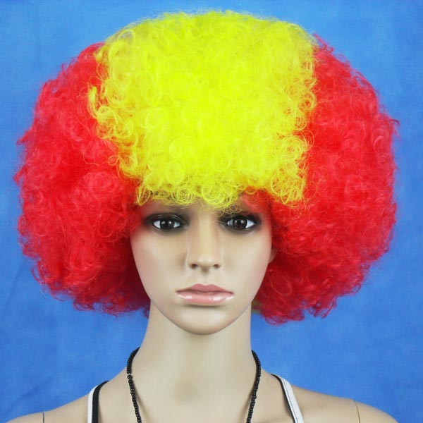 Spain National Flag World Cup Fans Synthetic Cosplay Party Wigs Hair Care & Salon