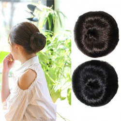 Women Clip On Updo Chignon Scrunchie Bun Hairpiece