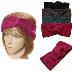 Women Knitted Headband Crochet Turban Ear Warmer Wrap Hairband