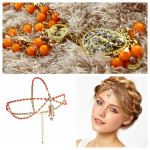 Women' s Trendy Crown Beaded Crystal Pearl Hair Accessories Headband Hair Care & Salon