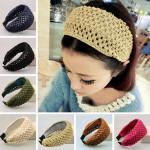 Wool Knitted Hollow Out Hair Hoop Head Wrap Headband Hair Accessory Hair Care & Salon