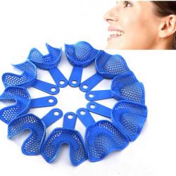 10pcs Plastic-Steel Dental Impression Trays Denture Model Materials