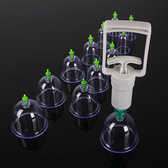 12 Body Cupping Healthy Kit +6 Therapy Massager Magnets 2021