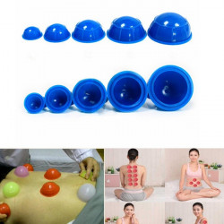 12Pcs Cups Rubber Massage Relaxation Suction Cupping Therapy Set