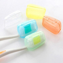 5pcs Travel Toothbrush Head Covers Case Brush Cap Protecter
