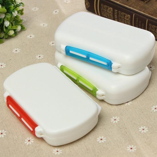 6 Cells Travel Medicine Pill Tablet Storage Organizer Case Box 2021