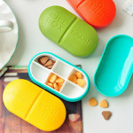 6 Partitions Portable Medicine Organizer Pill Box Case Health Care