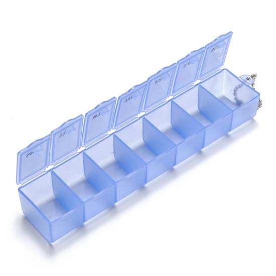 7 Grid Weekly Pill Box Organizer Detachable Storage Case