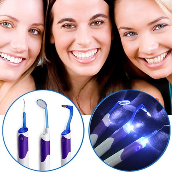 8000 MCD LED Light Mirror Dental Oral Care Teeth Whitening Clean Tool Health Care