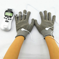 A Pair Of Electrode Gloves For Acupuncture Digital Therapy