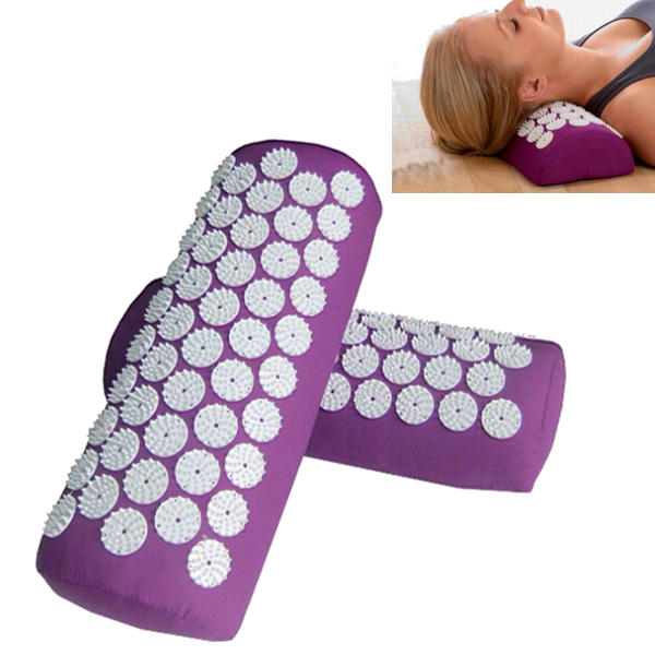 Acupuncture Massage Mat Yoga Neck Shoulder Massager Pillow Health Care
