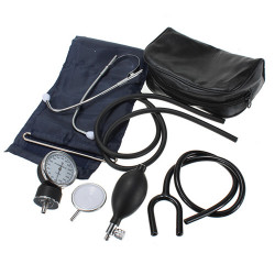 Aneroid Adult Blood Pressure Monitor Meter Sphygmomanometer Set
