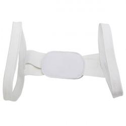 Beauty White Back Posture Shoulder Support Band Belt Brace Corrector