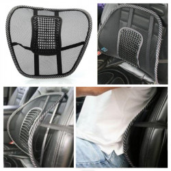 Car Chair Mesh Seat Back Support Lumbar Massage Cushion