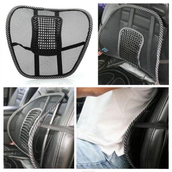 Car Chair Mesh Seat Back Support Lumbar Massage Cushion Health Care