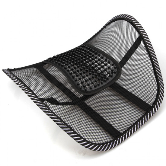 Car Chair Mesh Seat Back Support Lumbar Massage Cushion 2021